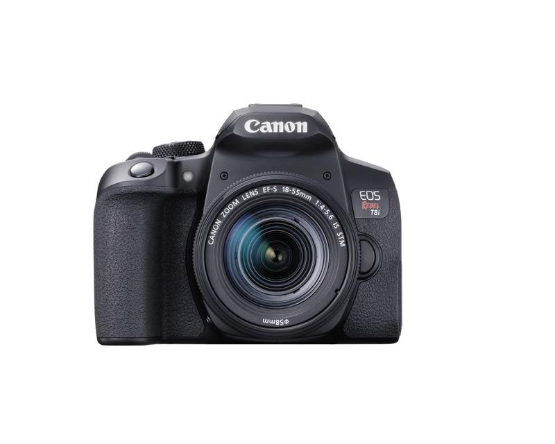 EOS Rebel T8i de Canon, la primera cámara EOS réflex con grabación de video vertical - hr_eost8i_front_efs18_55mm