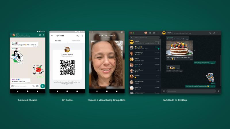 WhatsApp presenta stickers animados, códigos QR, modo oscuro y más - whatsapp-stickers-animados-codigos-qr-modo-oscuro