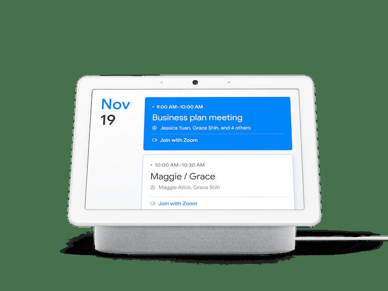 """Zoom for Home"" se extiende a las pantallas inteligentes - google-nest-hub-max-zoom-meeting"
