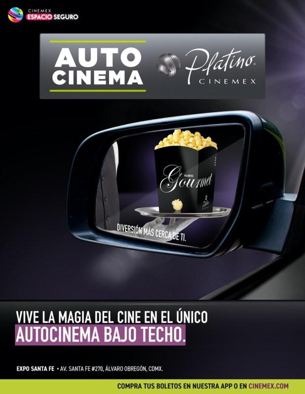 Cinemex apertura el primer Autocinema Platino en Ciudad de México - autocinema-618x800