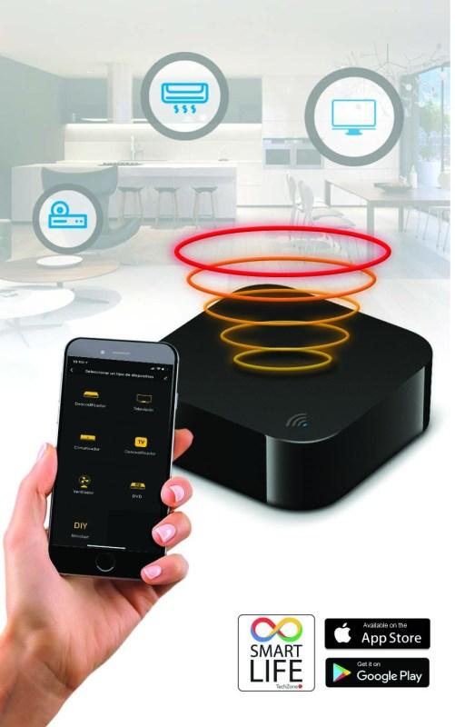 Nuevo control remoto infrarrojo de TechZone para automatizar tu hogar o negocio - control_remoto_infrarrojo_techzone_arte-1