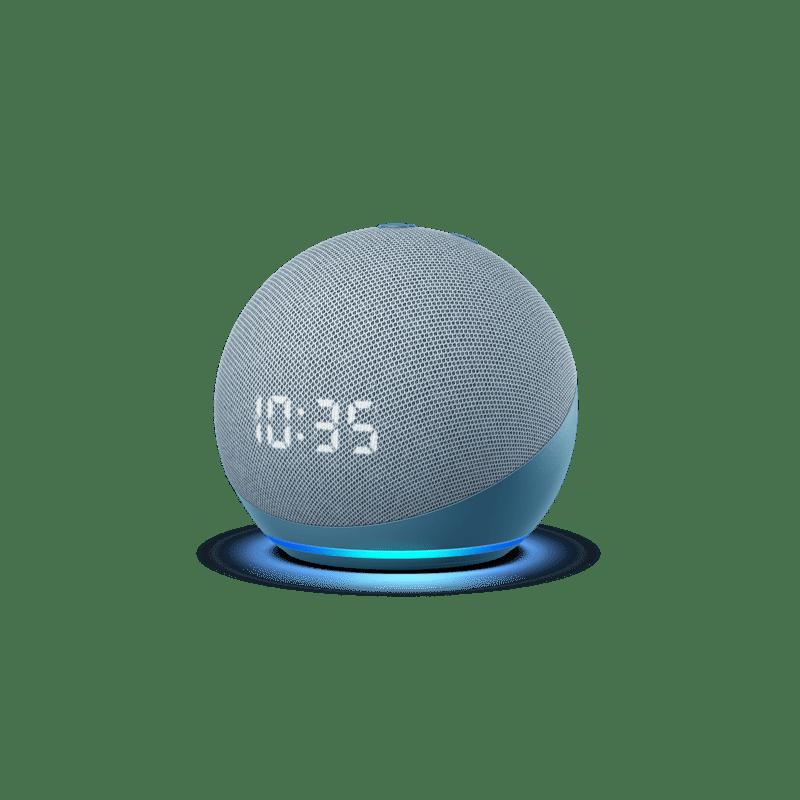 Nuevos Echo, Echo Dot y Echo show 10: diseños renovados y calidad de audio mejorada - echodotconrelojazul-1