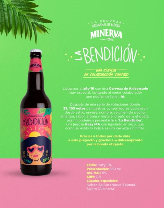 """Cerveza Minerva lanza nueva cerveza de aniversario: """"La Bendición"""" - ficha-tecnica-la-bendicion"""