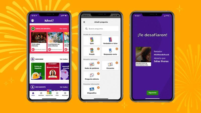 Kahoot! lanza su app móvil en español para descubrir, jugar y crear juegos - kahoot-espancc83ol-800x450