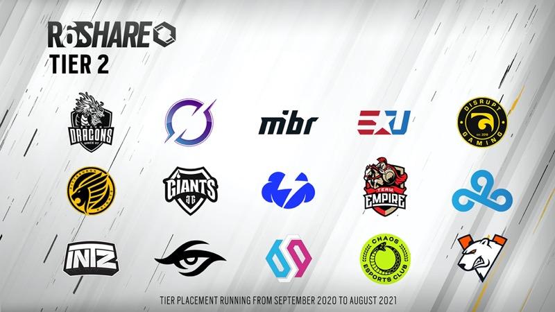 Ubisoft revela los equipos seleccionados del programa R6 SHARE de Tom Clancy's Rainbow Six Siege - r6_share_tier_2-800x450