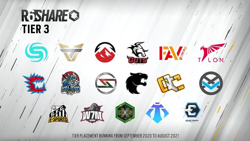 Ubisoft revela los equipos seleccionados del programa R6 SHARE de Tom Clancy's Rainbow Six Siege - r6_share_tier_3-800x450