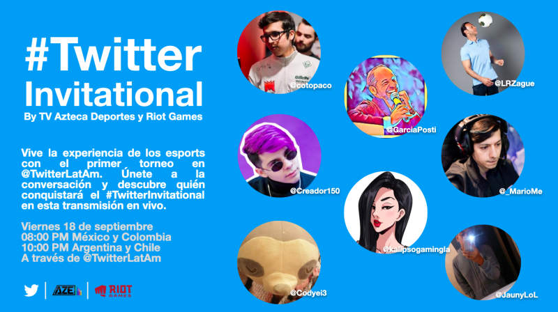 Twitter anuncia el primer #TwitterInvitational by Riot Games y Azteca Esports - twitterinvitational-800x448