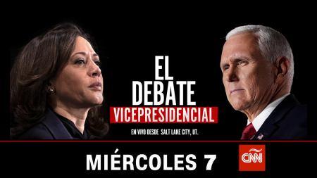 CNN en Español transmitirá en vivo el debate vicepresidencial 2020