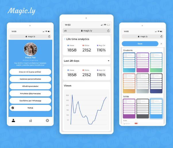 Magic.ly, nueva herramienta para agrupar todos tus links y redes sociales en uno solo - magic-ly