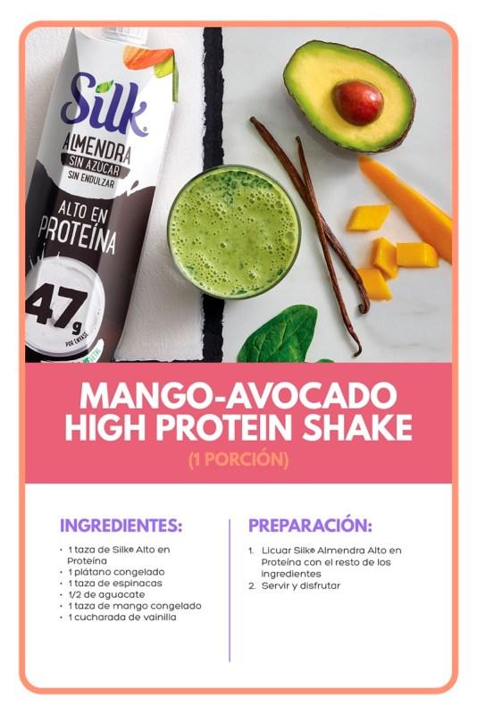 Silk y Veggie Power Summit comparten los beneficios de una dieta plant based - mango-avocado-high-protein-shake