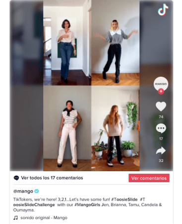 MANGO estrena su cuenta oficial en TikTok