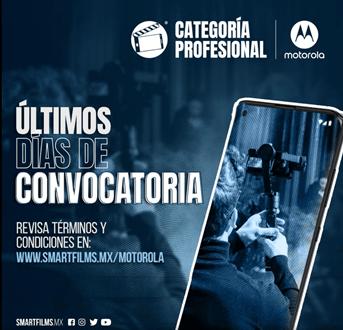 Motorola y SmartFilms hacen un último llamado para participar en la categoría Profesional