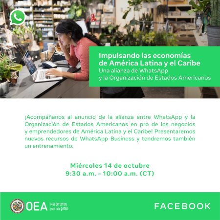 WhatsApp y la OEA unen fuerzas en soluciones de marketing digital para pequeñas empresas