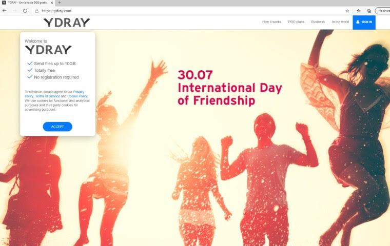 Ydray amplía hasta los 10 GB su servicio gratuito de envío de archivos online - ydray