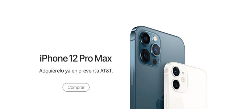 iPhone 12 Pro Max y iPhone 12 mini, disponibles en preventa en AT&T México - att-iphone-12-pro-max