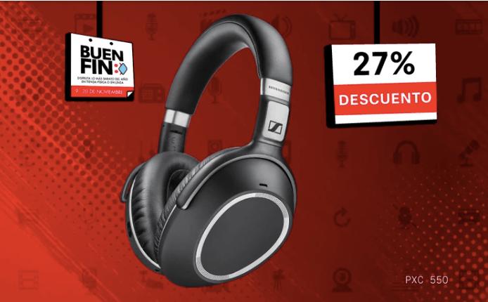 Sennheiser con grandes ofertas en El Buen fin 2020 - audifonos_pxc_550_sennheiser
