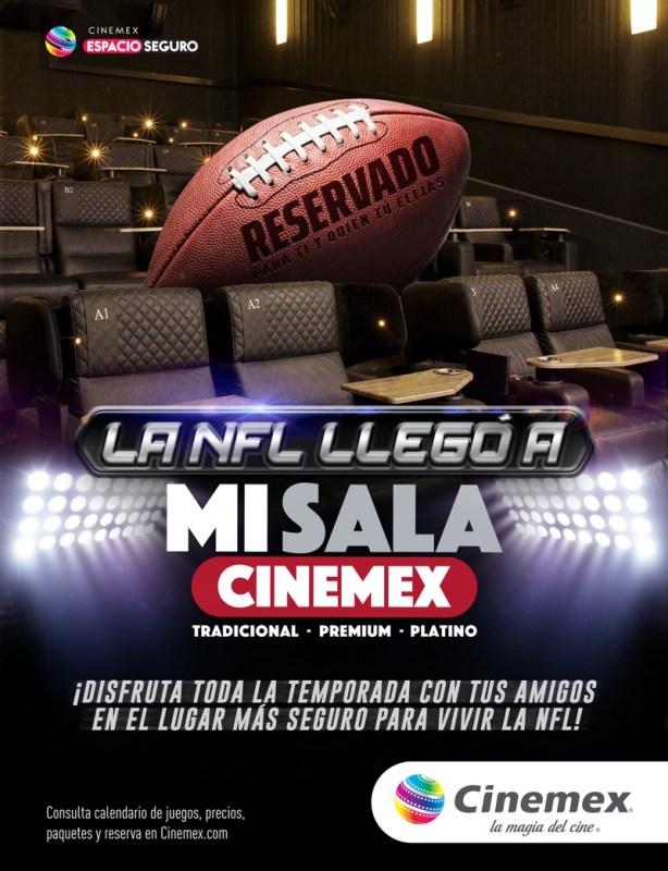 Ahora podrás rentar una sala privada en Cinemex para ver una película, la NFL o jugar videojuegos - estadio-cinemex-614x800