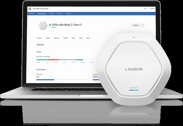 Linksys Cloud Manager 2.0, plataforma de gestión WiFi mejorada y alojada en la nube - linksys_cloud_manager_2-0_ap_withcomputer