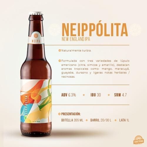 Cervecería Fortuna presenta la nueva integrante de su familia de cervezas de línea: Neippólita - neippolita-cerveceria-fortuna