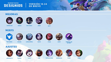 La versión 10.24 de TeamFight Tactics ¡ya está disponible!