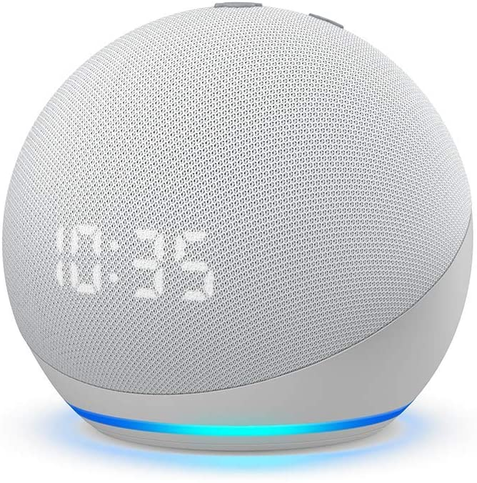 Dispositivos Amazon para regalar en esta Navidad 2020 - echo-dot-4ta-reloj
