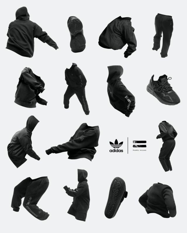 """adidas y Pharrell Williams anuncias su colección colaborativa """"Pharrell Williams Triple Black"""" - fw20_pharrell_williams_triple_black-640x800"""