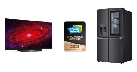 LG rompe récord de forma histórica en los premios CES Innovation Awards 2021