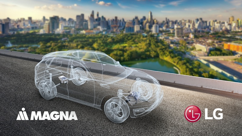 LG y Magna se unen para expandirse en el mercado del tren motriz eléctrico - lg_magna_tren_motriz_electrico-800x450