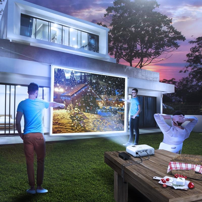 Proyector Epson: ¿Por qué no crear un auténtico cine al aire libre en vísperas de Navidad? - proyector_epson_powerlite_s39_visual-home-cinema