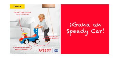 [TRIVIA] ¡Gana un Speedy Car de Chicco! un divertido montable lleno de sorpresas