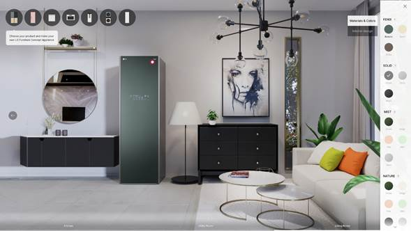 LG CES 2021: Presenta experiencia interactiva para diseñar electrodomésticos - furniture_concept_appliances