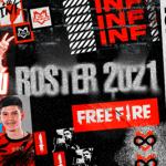 El nuevo roster de Infinity Esports para la Free Fire League 2021