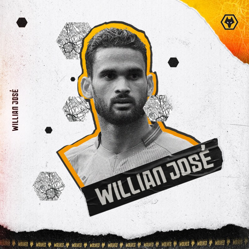 Willian José llega a préstamo para reforzar el ataque de los Wolves - los-wolves-willian-jose-800x800