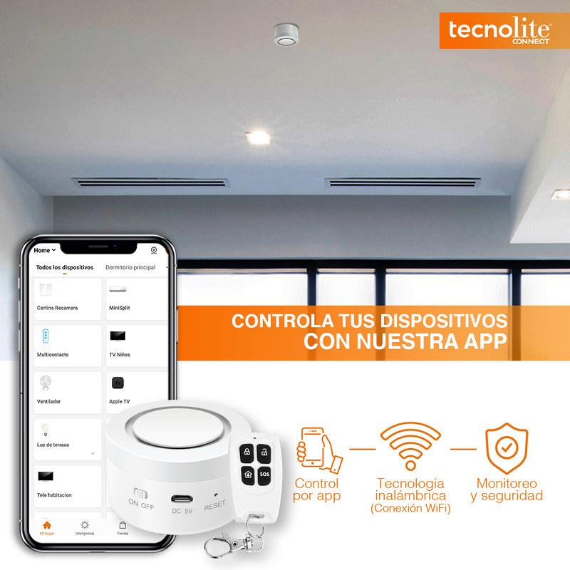 Tu hogar inteligente con Tecnolite Connect ¡conoce sus características! - modo-de-alarma-ajustable-sonido-destello-de-luz-1-800x800