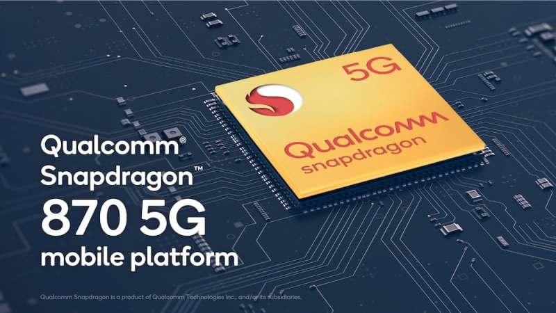 Qualcomm anuncia a la plataforma móvil Snapdragon 870 5G - qualcomm-snapdragon-870-5g-800x450