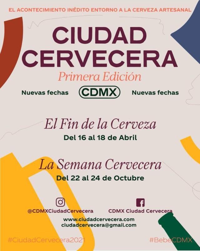 CDMX Ciudad Cervecera cambia de formato y anuncia nuevas fechas para 2021 - cdmx-ciudad-cervecera-2021-640x800