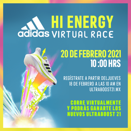 "Adidas Running te invita a participar en su reto digital: UltraBoost 21 ""Hi Energy Virtual Race"""