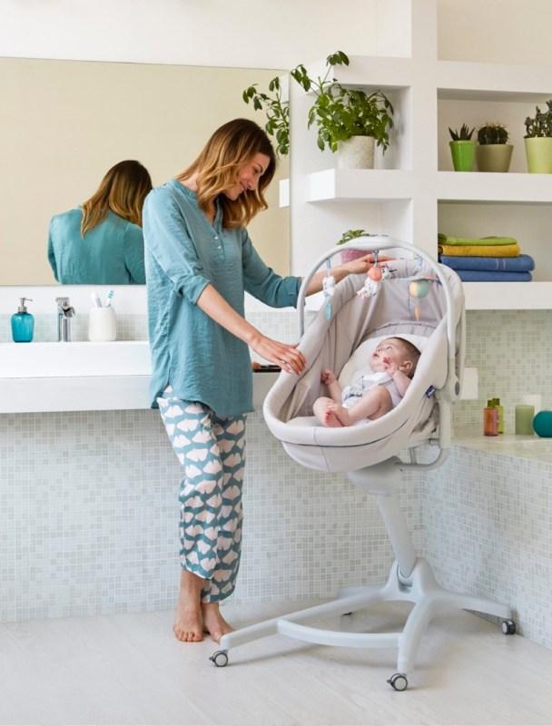 Baby hug 4 en 1 de Chicco, que se convierte en moisés, hamaca, trona y primera silla - baby-hug-4en1-chicco-mesedora-608x800