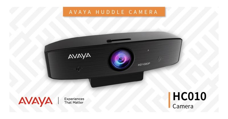 Nuevos dispositivos Avaya para una colaboración fluida y trabajar desde cualquier lugar - camara-huddle-camera-hc010-camera