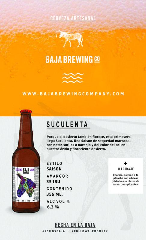 """""""Suculenta Saison"""" el nuevo lanzamiento primaveral de Baja Brewing Company - ficha-tecnica-suculenta-saison"""
