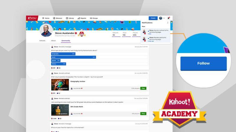 Kahoot! Academy Connect ofrece funciones de red de contactos a educadores y maestros - kahoot-academy-connect-800x450