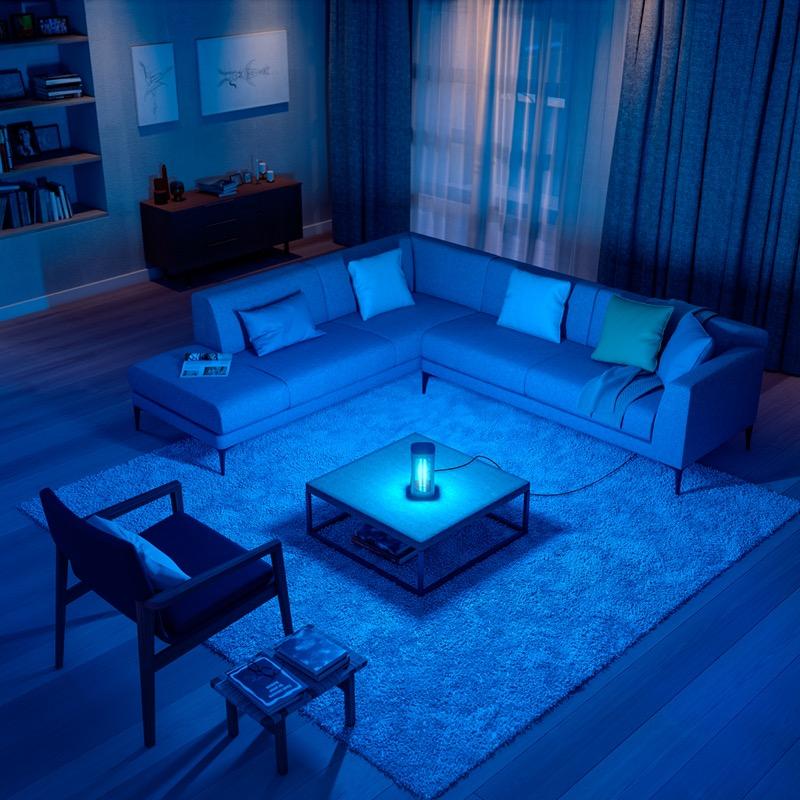 Desinfecta e inactiva los virus de tu hogar con la nueva lámpara de desinfección UV-C de Philips - lampara-philips-uvc-desinfection-livingroom-800x800