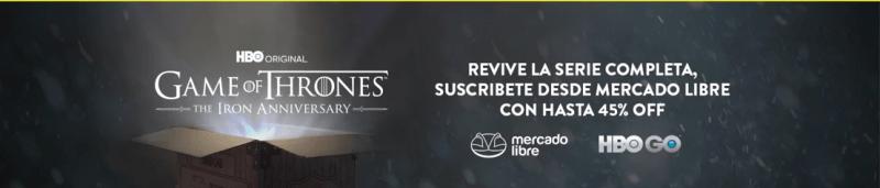 Por primera vez, Mercado Libre cambia las cajas de sus envíos para celebrar el aniversario de Game of Thrones - mercado-libre-got-800x171
