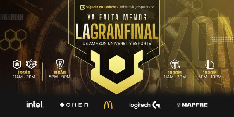 Gran Final Nacional de la Liga Amazon UNIVERSITY Esports el 15 y 16 de mayo - amazon-university-esports-800x400