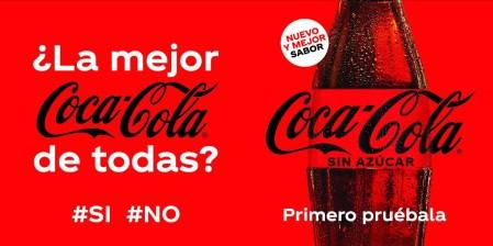 Lanzamiento de la nueva Coca-Cola Sin Azúcar con renovada fórmula