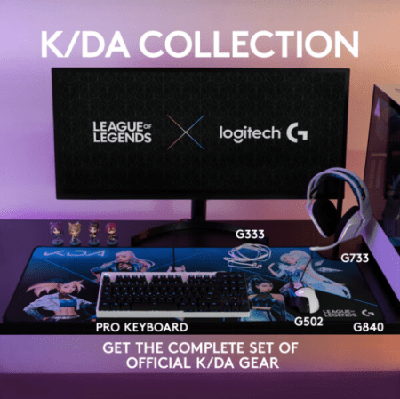 La K/DA Collection, productos gaming oficiales de League of Legends de Logitech G ¡ya disponibles!
