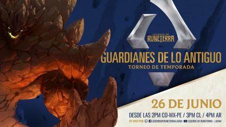 Legends of Runeterra transmitirá las finales del Torneo de Temporada: Guardianes de lo Antiguo