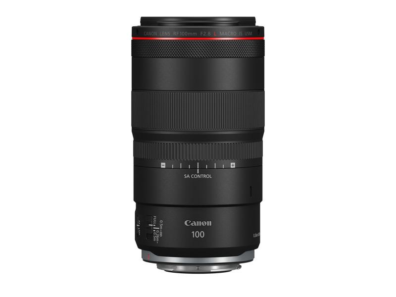 Canon lanza tres innovadores lentes para fotógrafos profesionales - lente-profesional-canon-rf100mm-f28-l-macro-is-usm-side-1