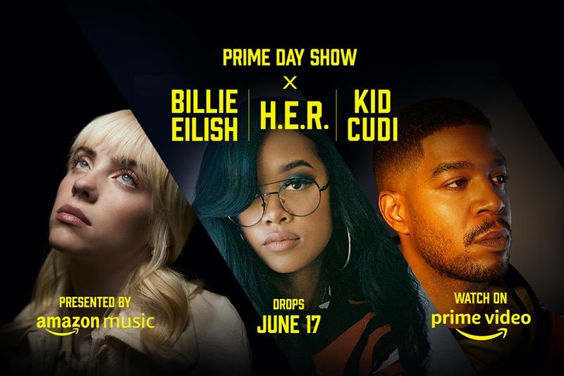 Amazon lanza el tráiler oficial del Prime Day Show, con los artistas Billie Eilish, H.E.R. y Kid Cudi - prime-day-show-2021