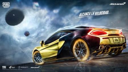 PUBG MOBILE y McLaren se asocian para traer el 570S Coupé al juego